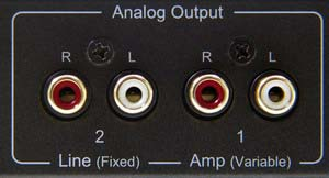 Analog Stereo Outputs Of The 2-In-1 Digital To Analog Audio DAC Converter With Headphone Amplifier
