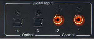 Digital Audio Inputs Of The 2-In-1 Digital To Analog Audio DAC Converter With Headphone Amplifier