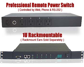 Professional Remote Power Switch - Phone Control + Web Control