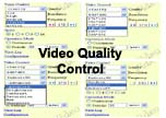 Screen Video Quality Control For 4-Channel Web Video Server With TV Out