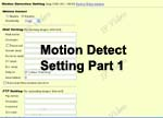 Motion Detect Setup For 4-Channel Web Video Server With TV Out