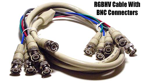 5 BNC to 5 BNC RGBHV High Resolution Video Cable - 6FT